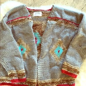 Zara girls cardigan sweater boho size 9-10